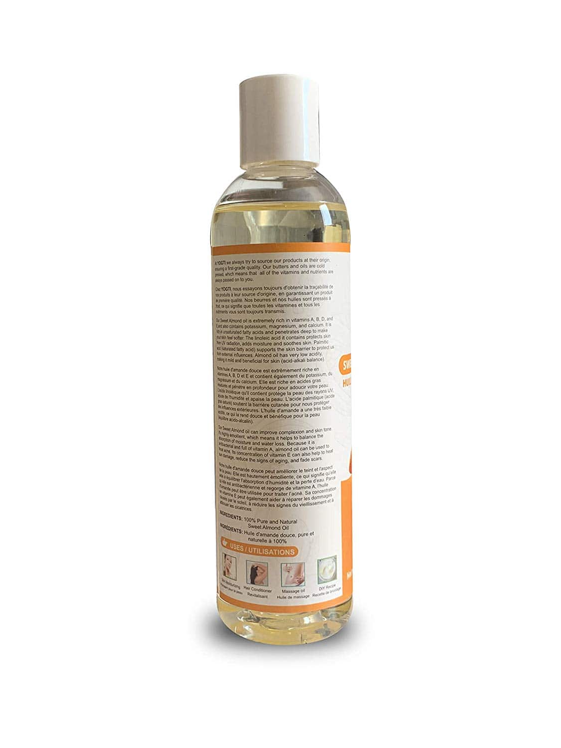Yogti Sweet Almond Oil 8Oz